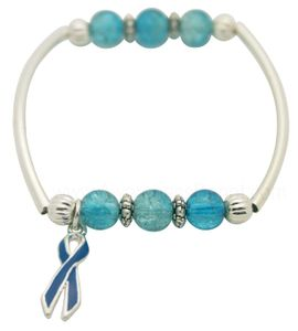 Prostate Cancer Together Bracelet - Light Blue