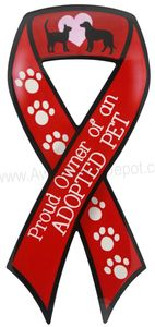 Proud Owner of An Adopted Pet Ribbon Magnet