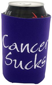PURPLE Cancer Sucks Can Holder