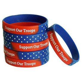 Red White and Blue Support Our Troops Bracelet