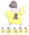 Rhinestone Angel Pin