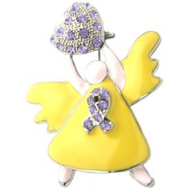 Rhinestone Angel Pin - Lavender