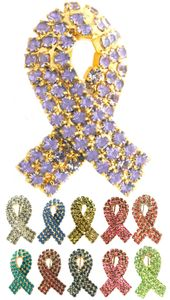 Rhinestone Ribbon Pin