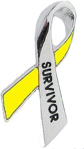Sarcoma Cancer Survivor Pin - Yellow