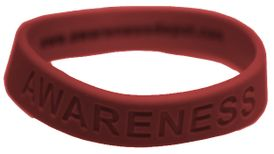 "Burgundy ""Awareness"" Bracelet for Sickle Cell Anemia"