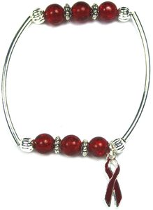 Sickle-Cell Together Bracelet - Burgundy