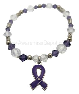 Stretch Awareness Bracelet - Purple