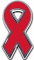 Stroke Awareness Ribbon Chrome Auto Emblem