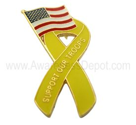 Support Our Troops Enamel Pin