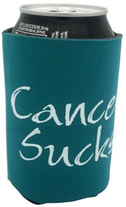 TEAL Cancer Sucks Can Holder