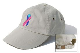Thyroid Cancer Ribbon Cap Khaki