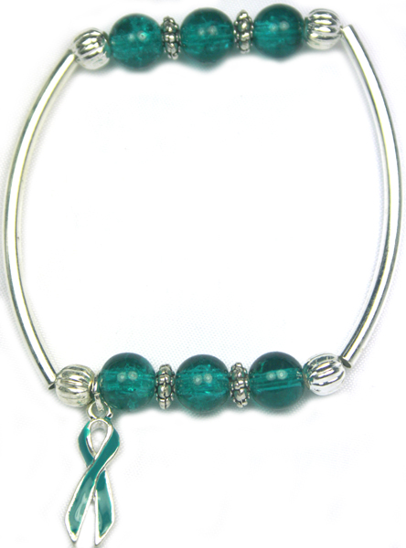 Together Bracelet Teal For Ovarian Cancer Or Cervical Cancer