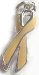 Uterine Cancer Awareness Ribbon Charm
