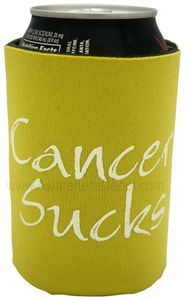 YELLOW Cancer Sucks Can Holder