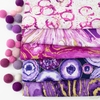 3 Wishes Fabric, Precious Metals Metallic, Purple in HALF YARDS 5 Total