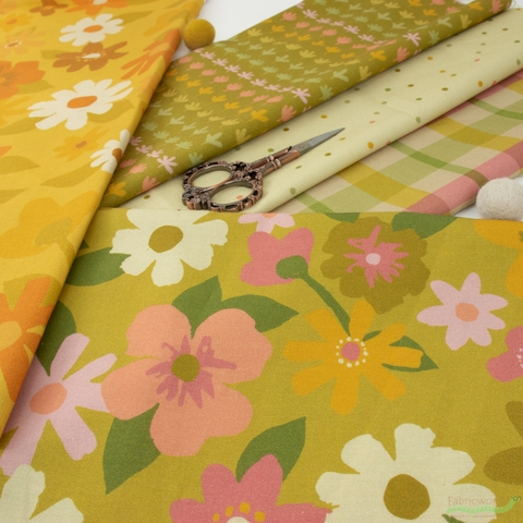A Beautiful Mess for Paintbrush Studio, Flower Market in HALF YARDS 5 Total