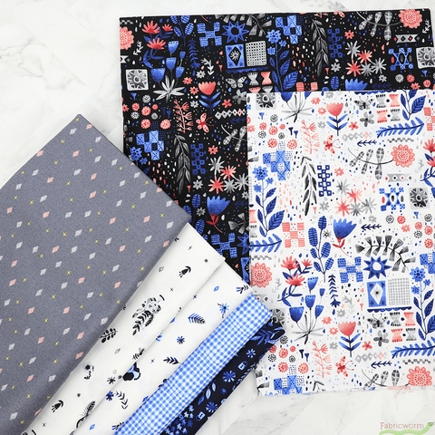 Abigail Halpin for FIGO, Eloise's Garden in FAT QUARTERS 7 Total