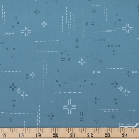 AGF Studio for Art Gallery, Decostitch Elements, Blue Minerale Fat Quarter