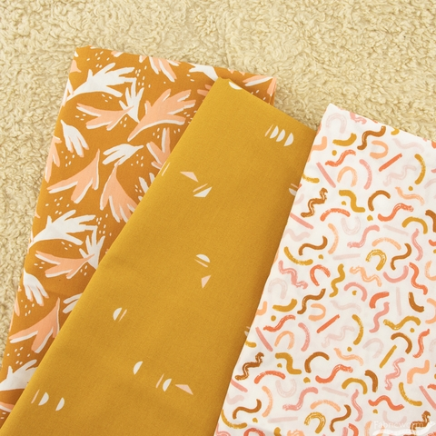 AGF Studio for Art Gallery Fabrics, Terra Kotta, Stenciled Sun