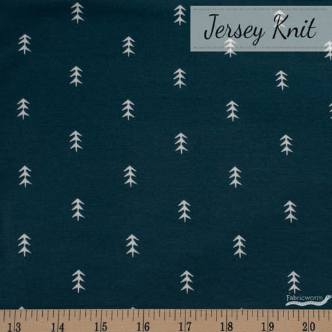 AGF Studio for Art Gallery, Foresta Fusion Jersey Knit, Simple Defoliage Foresta
