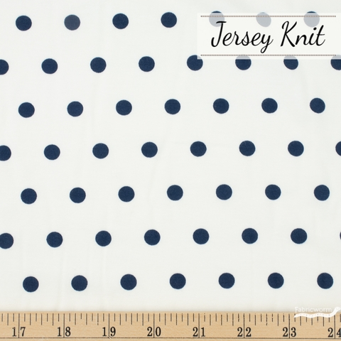 AGF Studio for Art Gallery, Knits Spotted Jersey Knit, Bubbles Night