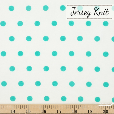 AGF Studio for Art Gallery, Knits Spotted Jersey Knit, Bubbles Turquoise
