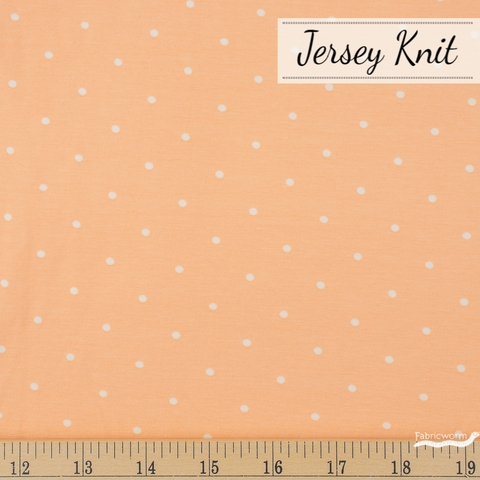 AGF Studio for Art Gallery, Knits Spotted Jersey Knit, Speckles Creamsicle