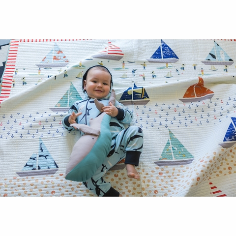 Ahoy Sailor Quilt Kit Featuring Saltwater