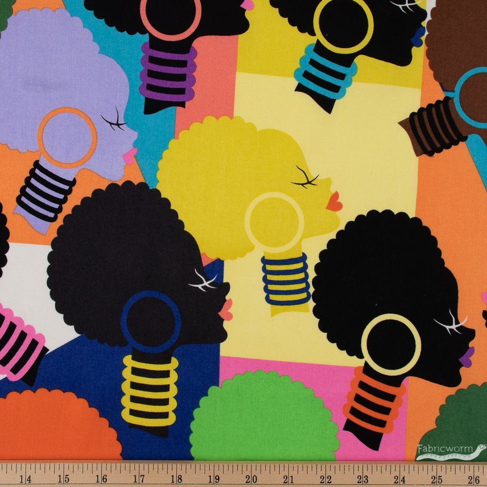 1m Phil/'s Drive-In Bright Fabric PER METRE Alexander Henry