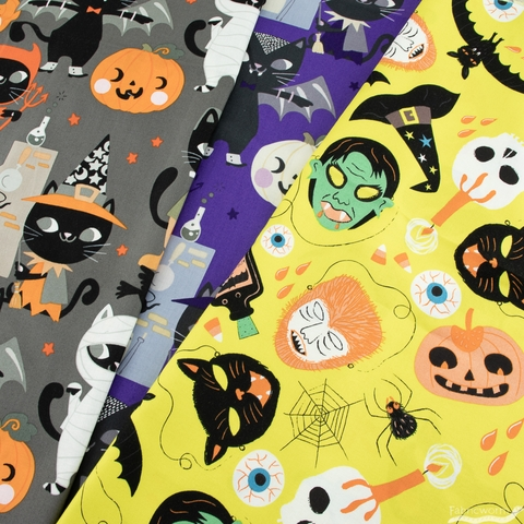 Alexander Henry Fabrics, A Scary Disguise Chartreuse