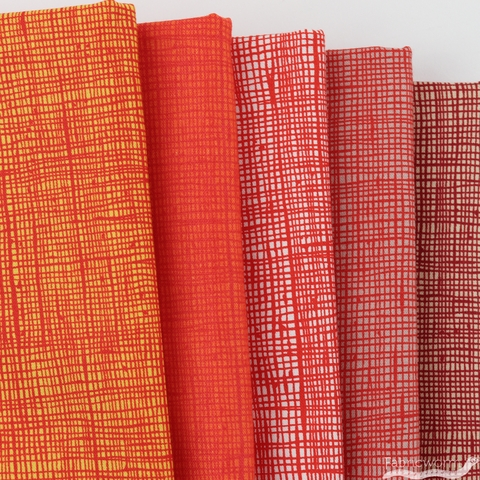 Alexander Henry, Heath, Sweet Potato in FAT QUARTERS 5 Total (PRECUT)