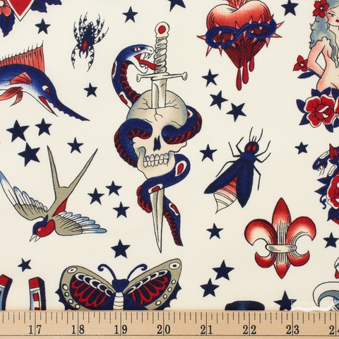 Alexander Henry, Tattoo Red White Blue