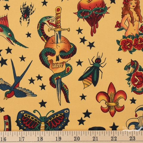 Alexander Henry, Tattoo Tea Fat Quarter