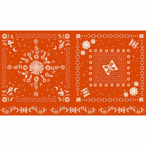 """Alexia Marcelle Abegg for Ruby Star Society, Golden Hour, Bandana Warm Red (24"""" Panel)"""