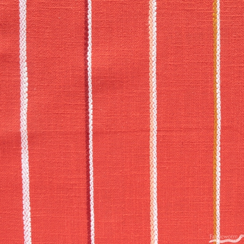 Alexia Marcelle Abegg for Ruby Star Society, Warp & Weft Heirloom, Linework Heavyweight Persimmon
