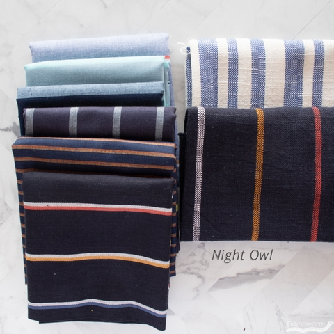 Alexia Marcelle Abegg for Ruby Star Society, Warp & Weft Heirloom, Solar Navy