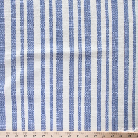 Alexia Marcelle Abegg for Ruby Star Society, Warp & Weft Heirloom, Woven Texture Stripe Bluebell