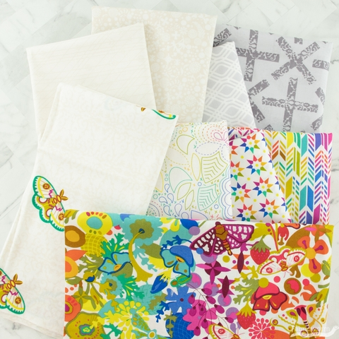 Alison Glass For Andover, Art Theory, Bright Day Bundle 9 Total