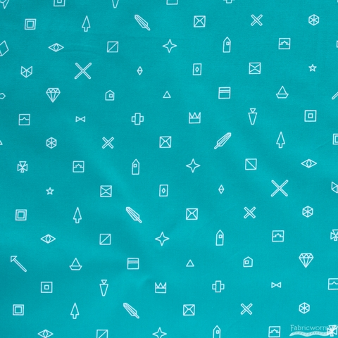 Alison Glass for Andover, Hopscotch, Trinkets Teal