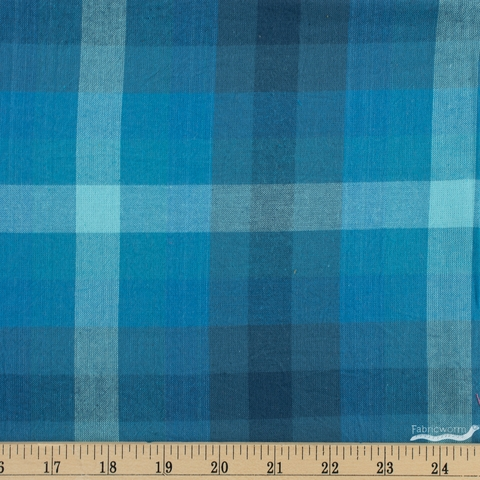 Alison Glass for Andover, Kaleidoscope Stripes & Plaids, Plaid Denim