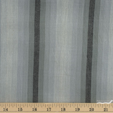 Alison Glass for Andover, Kaleidoscope Stripes & Plaids, Stripe Charcoal