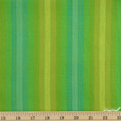 Alison Glass for Andover, Kaleidoscope Stripes & Plaids, Stripe Lichen