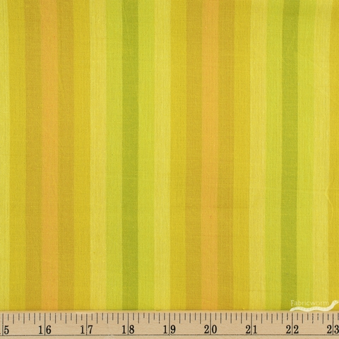 Alison Glass for Andover, Kaleidoscope Stripes & Plaids, Stripe Sunshine