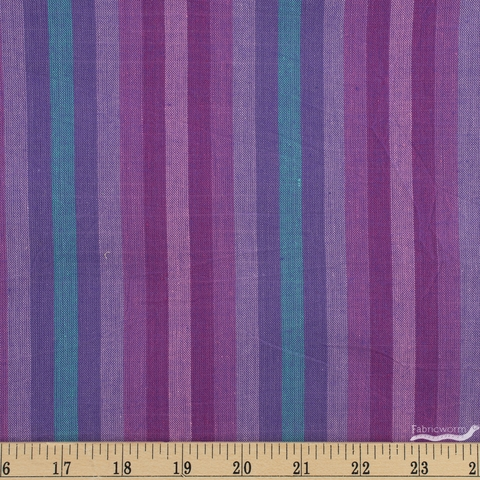 Alison Glass for Andover, Kaleidoscope Stripes & Plaids, Stripe Thistle