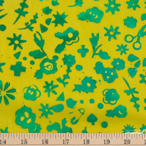 Alison Glass for Andover, Stitched, Floral Lichen