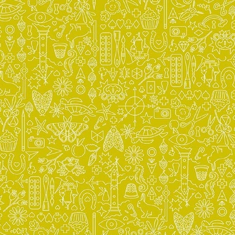 Alison Glass for Andover, Sun Print 2019, Collection Chartreuse