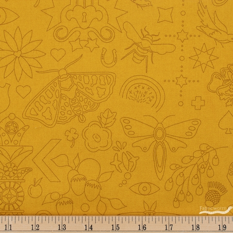 Alison Glass for Andover, Sun Print 2020, Embroidery Yarrow
