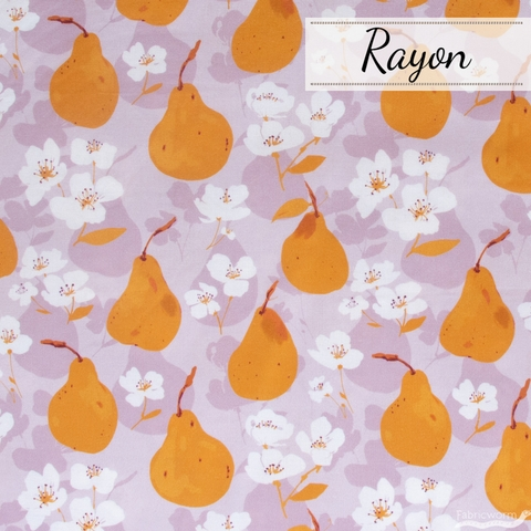 Alison Janssen for FIGO, Summer's End Rayon, Pears Lilac