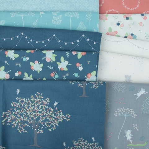 Amanda Castor for Riley Blake, Fairy Edith in FAT QUARTERS 10 Total (PRECUT)
