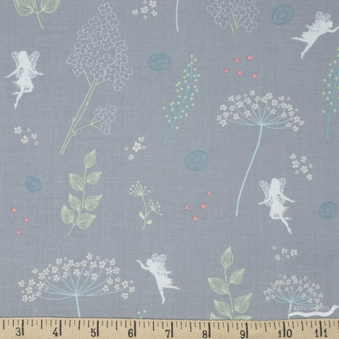 Amanda Castor for Riley Blake, Fairy Edith, Wildflowers Gray